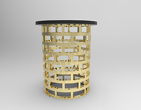 Chair side Table 3D asset rigged