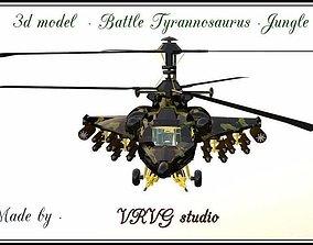 Fantasy Military Helicopter - Battle 3D model 2