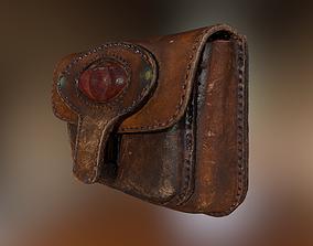 Vintage Leather Belt Bag 3D scan