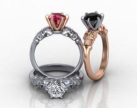 Skull Engagement ring Tiffany style 3d model 0185