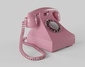 Telephone Pbr 3D asset low-poly