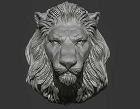 Lion Head Pendant 2 3d print model download