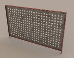 low-poly enclosure fence 3D Model