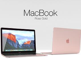 MacBook Cinema 4d and Vray 3D model