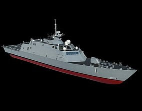 3D US Navy Littoral Combat Ship LCS-1 Freedom MAX