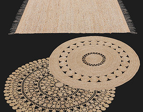 3D model HM Home patterned jute rug and Ikea