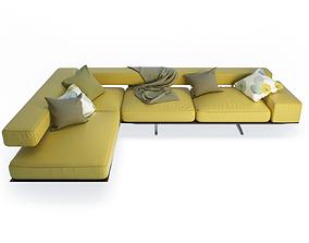 Wing Corner Sofa 3D model