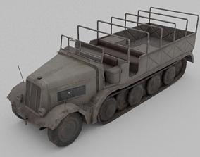 Sd Kfz 9 Famo Heavy Halftrack 3D model