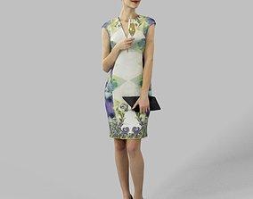 Barbara A Charming Elegant Woman Holding A 3D asset 2