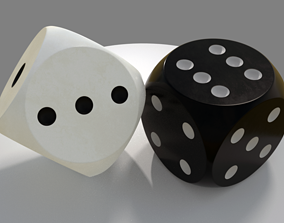 Dice - Black and White 3D
