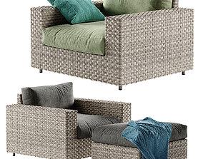 West Elm Urban armchair 3D