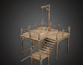 3D asset Gallows - MVL - PBR Game Ready