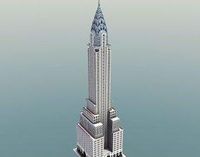 Chrysler Building New York 3D model low-poly