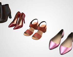 3D Realistic Women Lady Shoes Collection