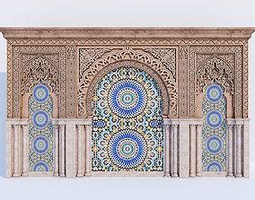 3D Islamic arches ornate