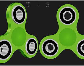 Fidget spinner 3D model game-ready