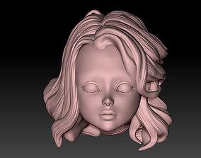 3D print model head doll1