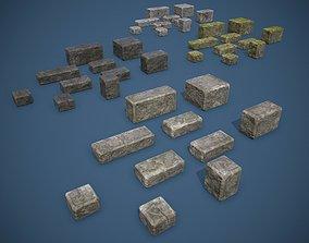 3D model Stone Bricks