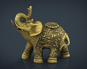 Gold Elephant 3D model