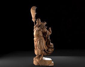 Guan Yu Woodcarving 3D print model
