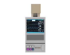 3D model ECG Machine