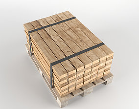 game-ready Timber on pallet 3D model