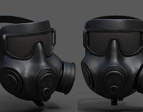 Gas mask helmet scifi protection space 3D asset 2