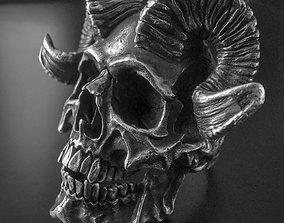 anatomical 3D print model skull ring