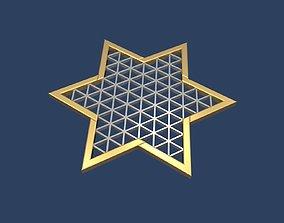 3D model ornament Star of David