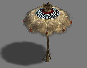 sundries Water cloud Ze - grass umbrella 3D model