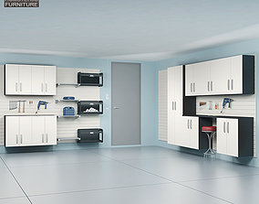 3D asset Garage Furniture 04 Set