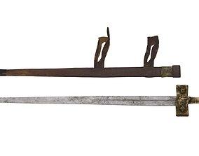 3D asset Takouba Sword