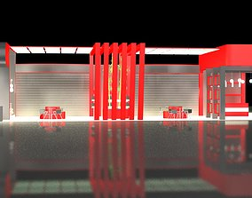 exhibition stall tand 6 x12-3 Side Open 3Ds max file