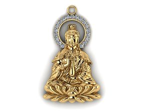 Buddha 3D print model gold