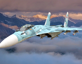 airport 3D SU 27 Fighter jet