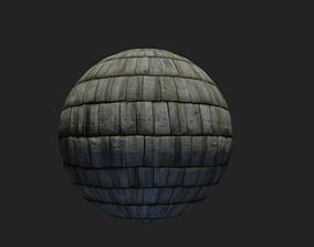 3D Roof Wood - PBR realistic