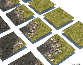 3D model River Lake terrain modules