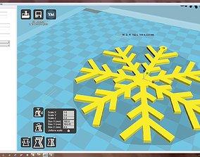 pas-ko Snowflake 3D print model