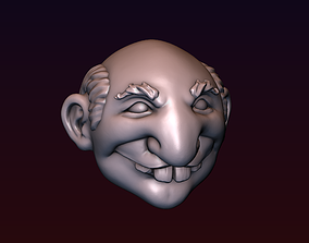 3D printable model Microcephal head stylized