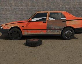 Abandoned car degraded 3D