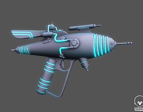 Retro Pbr Textured Raygun 3D asset