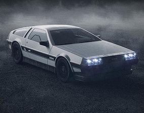 DeLorean - 1981 Iconic Car 3D model