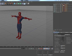 Cartoon Spiderman-Rigged 3D model
