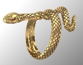 3D printable model snake ring amulet