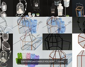 LANTERNS and CANDLE HOLDERS 3D