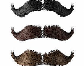 3D asset Mustache Low Poly 1