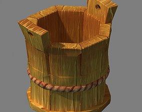 3D model Dynasty City - wooden barrel