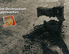 3D animated Houdini 17 Redshift Destruction Setup