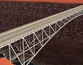 arched bridge 02 highway 3D model