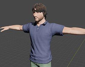 rigged Adrian Gochila 3D Rigged Character man
